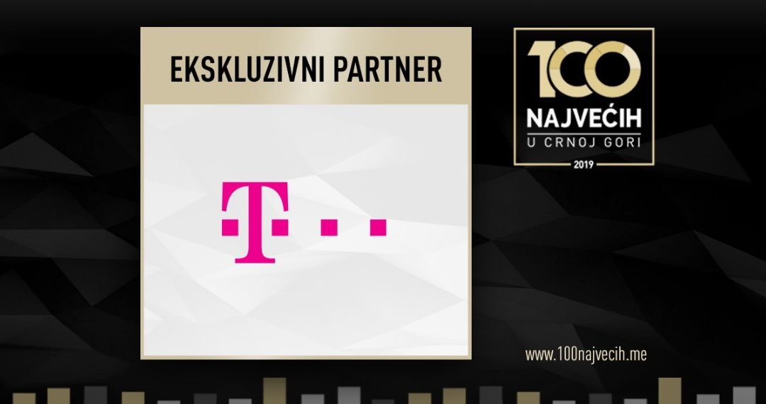 "CRNOGORSKI TELEKOM IS THE EXCLUSIVE PARTNER OF THE ""TOP 100 IN MONTENEGRO 2019"" PROJECT"